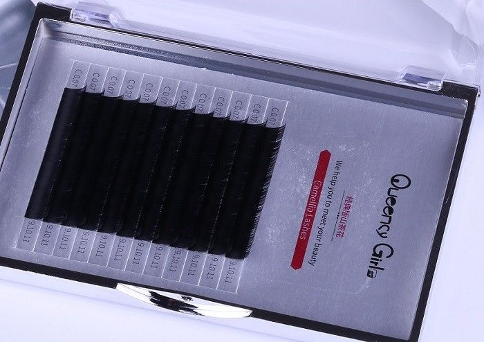Black Color 0.07mm 3D Eyelash Extensions 3 Mix Length In One Row ILAC MRA Approval